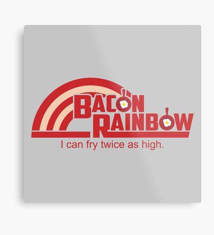 Bacon Rainbow Metal Print
