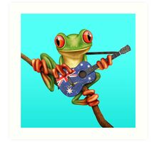 Tree Frog Playing Australian Guitar Art Print