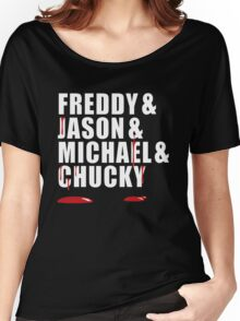 Freddy, Jason, Michael & Chucky Women's Relaxed Fit T-Shirt