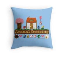 Animal Crossing home sampler Throw Pillow