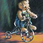 Teddy bear on Bike by Kayleen West