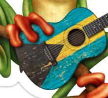Tree Frog Playing Bahamas Guitar Sticker