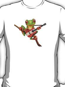 Tree Frog Playing Austrian Guitar T-Shirt