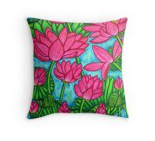 Lotus Bliss Throw Pillow