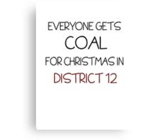 Coal for Christmas Canvas Print