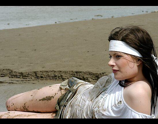 pom sissy sarah on the beach by katie bruce