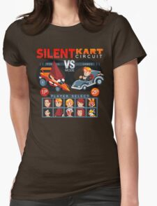 SILENT KART CIRCUIT Womens Fitted T-Shirt