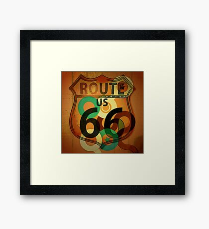 Route 66 Rodeo Framed Print