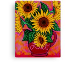 Saturday Morning Sunflowers Canvas Print