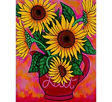 Saturday Morning Sunflowers Photographic Print