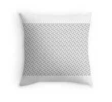 BRIGHT WHITE on WHITE GEOMETRIC DESIGN on GIFTS & DECOR Throw Pillow