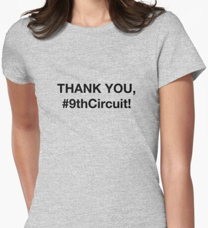 #9thCircuit - Thank You - 9th Circuit Court - Black Womens Fitted T-Shirt