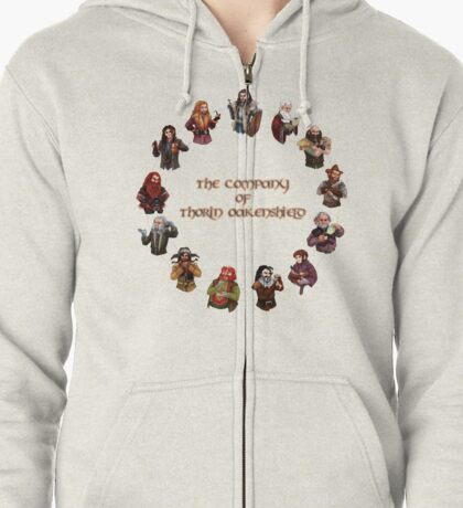 The Company of Thorin Oakenshield Zipped Hoodie