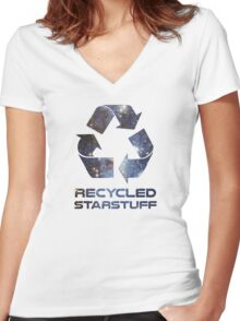 Recycled Star Stuff Women's Fitted V-Neck T-Shirt