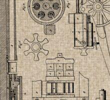 1862 Gatling Machine Gun Patent Sticker