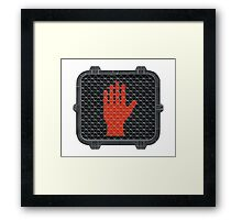 Stop and Talk to the Hand Framed Print