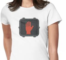 Stop and Talk to the Hand Womens Fitted T-Shirt