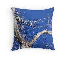 daytime moon Throw Pillow