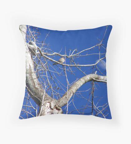 daytime moon Throw Pillow