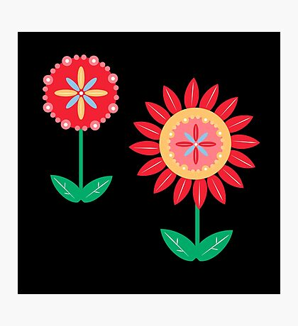 Bright Red Flowers Photographic Print