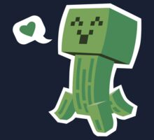 Creeper Loves You Kids Clothes
