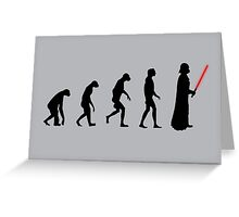 Evolution of the dark side Greeting Card