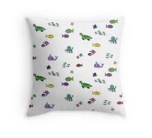 Ocean Animals Throw Pillow