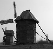 Old Windmill in Ukraine by Brendan Howard