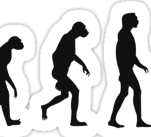 Evolution of Zombies (Zombie Walking Dead) Sticker