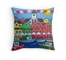 Hometown Festival Throw Pillow