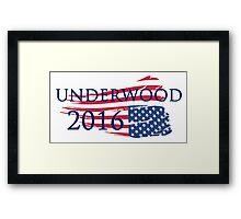 Campaign Underwood 2016 Framed Print