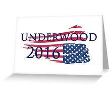Campaign Underwood 2016 Greeting Card