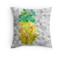 Hazy pineapple cubes Throw Pillow
