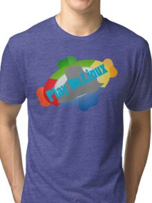Play on Linux Tri-blend T-Shirt