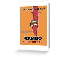 Rambo: First Chip Greeting Card
