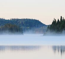 Mist on the Lake by hummingbirds