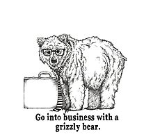Go Into Business with a Grizzly Bear Photographic Print