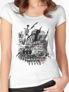 23rd Century Human Anatomy  Women's Fitted Scoop T-Shirt