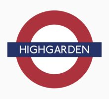 Game of Thrones Highgarden tube stop by monsterplanet