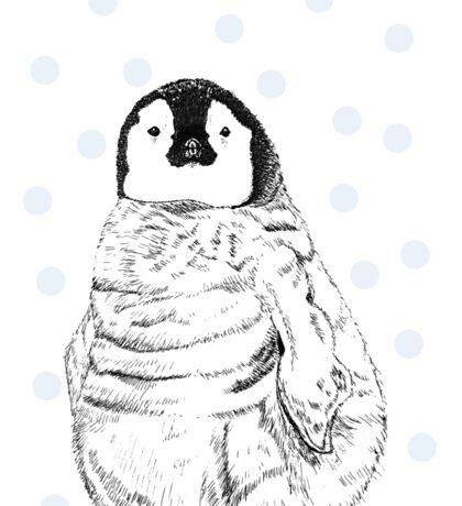 Emperor Penguin Chick Sticker