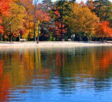 Fall at the Lake Sticker