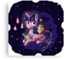Reading with Twilight Canvas Print