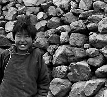 Tibetan Boy by Julio Vasconcellos
