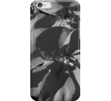 Macro Geranium Bloom - B&W iPhone Case/Skin