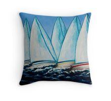 Regatta Blue Throw Pillow