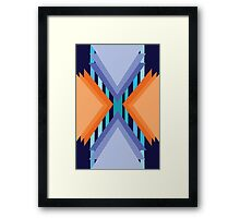 Complementary Geometric Framed Print