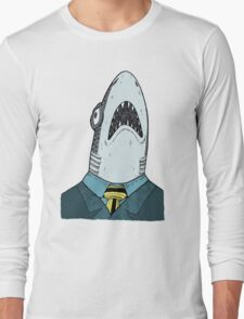 The Clothes Make the Shark Long Sleeve T-Shirt