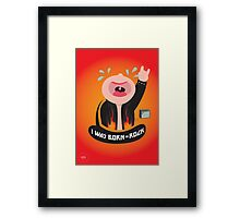 I was born to rock Framed Print
