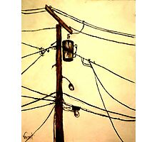 """You Pay for the View - """"Wired"""" Series Photographic Print"""