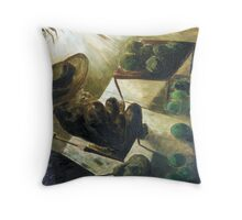 L aplaza del pueblo Throw Pillow